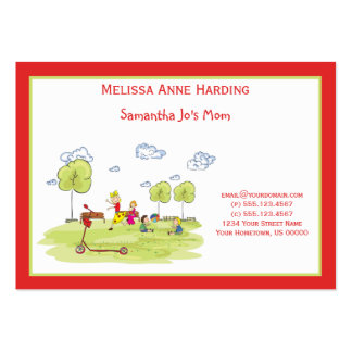 Mommy Calling Card Kids at the Playground Large Business Cards (Pack Of 100)