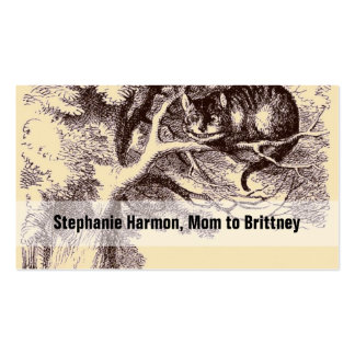 Mommy Calling Cards Cheshire Cat Alice Wonderland Double-Sided Standard Business Cards (Pack Of 100)