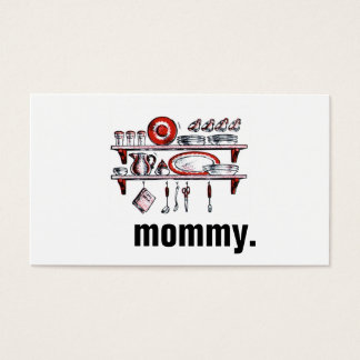 Mommy Calling Cards   Country Kitchen Black Red
