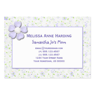 Mommy Calling Cards Tiny Purple Flowers