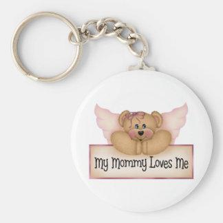 Mommy Children's Gifts Basic Round Button Keychain