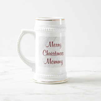 Mommy Christmas Love Beer Stein