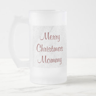 Mommy Christmas Love Frosted Glass Beer Mug
