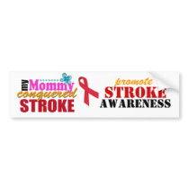 Mommy Conquered Stroke Bumper Sticker