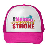 Mommy Conquered Stroke Mesh Hats