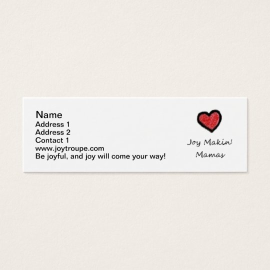 Mommy Contact Cards