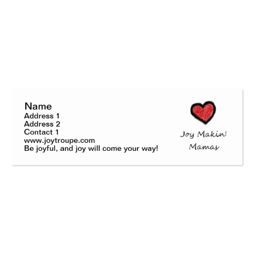 Mommy Contact Cards Business Cards