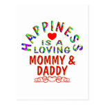 Mommy & Daddy Happiness Post Card