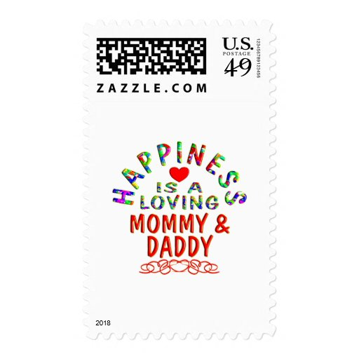 Mommy & Daddy Happiness Postage Stamp