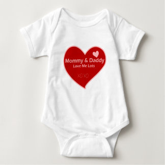 Mommy & Daddy Love Me Lots Baby Bodysuit