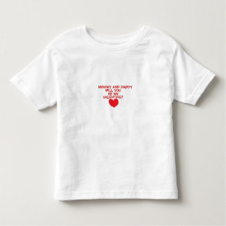 """""""MOMMY&DADDY WILL YOU BE MY VALENTINE?"""" TEE"""