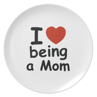 mommy design dinner plate