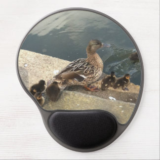 mommy duck and babies ducklings gel mouse pad  mat