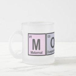 Frosted Glass Mug with Mommy design