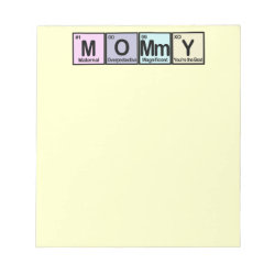 5.5' x 6' Notepad - 40 pages with Mommy design