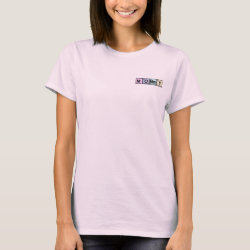 Women's Basic T-Shirt with Mommy Elements design