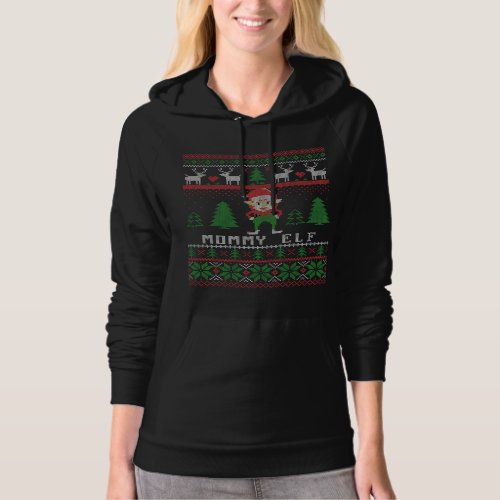 Mommy Elf Ugly Christmas Hoodie After Christmas Sales 6030