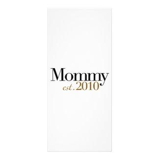 Mommy Est 2010 Customized Rack Card