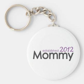 mommy established 2012 keychains