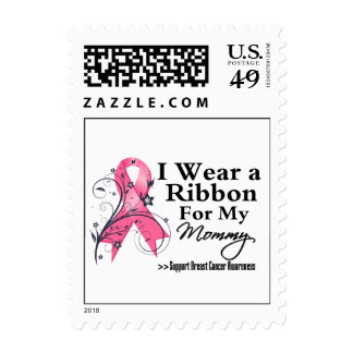 Mommy Floral Ribbon - Breast Cancer Stamp