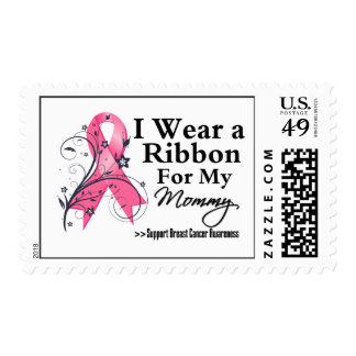 Mommy Floral Ribbon - Breast Cancer Postage