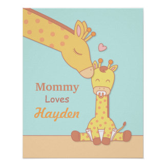 Mommy Giraffe and Baby Calf Nursery Room Decor