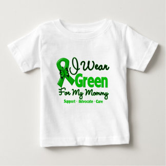 Mommy - Green  Awareness Ribbon Baby T-Shirt