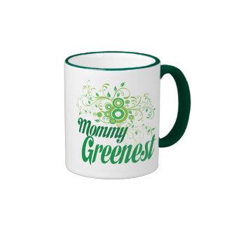 Mommy Greenest Ringer Coffee Mug
