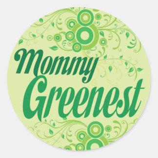 Mommy Greenest Classic Round Sticker