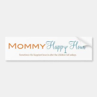 Mommy Happy Hour Bumper Sticker Car Bumper Sticker