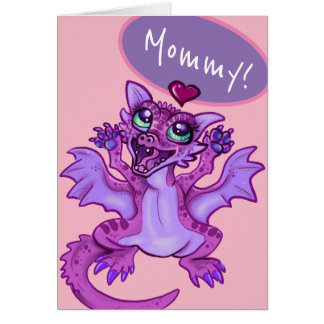 mommy! happy mother's day baby dragon card
