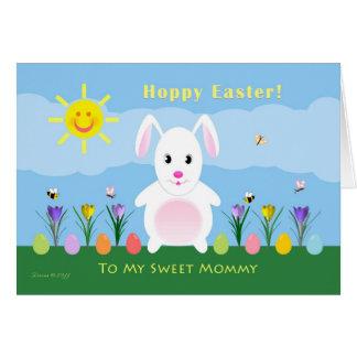 Mommy Hoppy Easter - Easter Bunny Greeting Card