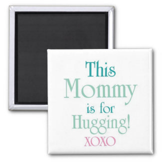 Mommy-Hugging 2 Inch Square Magnet