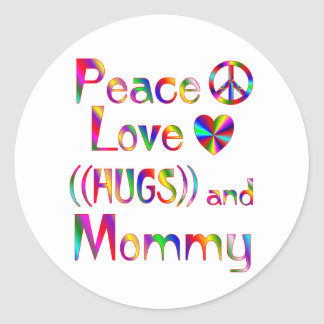 Mommy Hugs Stickers