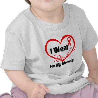 Mommy - I Wear a Red Heart Ribbon Tshirts