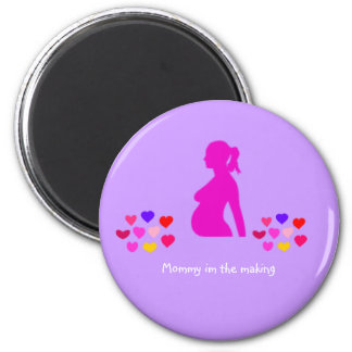 Mommy in the making fridge magnets