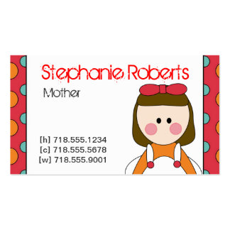 Mommy Info Card Double-Sided Standard Business Cards (Pack Of 100)
