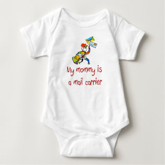 Mommy is a Mail Carrier baby t- shirt