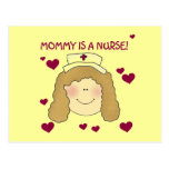Mommy is a Nurse TShirts and Gifts Postcard