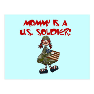 Mommy is a U.S. Soldier T-shirts and Gifts Postcard