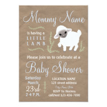Mommy is having a little lamb! Baby shower invite