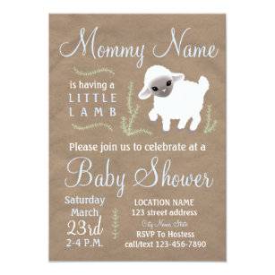 Little lamb baby shower invitations announcements zazzle mommy is having a little lamb baby shower invite filmwisefo Choice Image