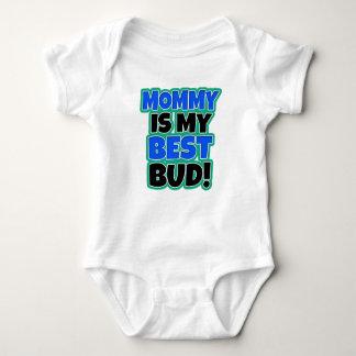 Mommy is my best bud funny baby boy shirt