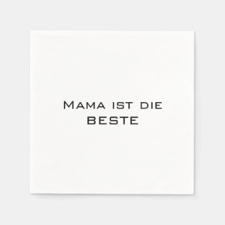 Mommy is the best-german text standard cocktail napkin