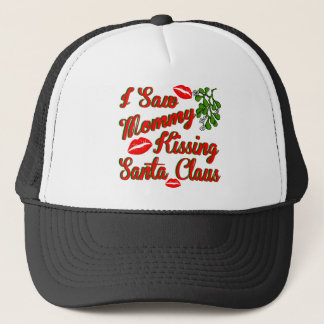 mommy kissing santa.png trucker hat