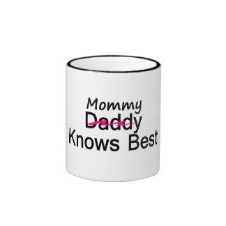 Mommy Knows Best Ringer Mug