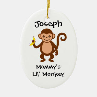 Mommy Lil Monkey Christmas Tree Ornament