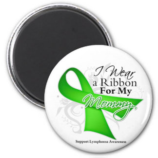 Mommy Lime Green Ribbon - Lymphoma Magnets