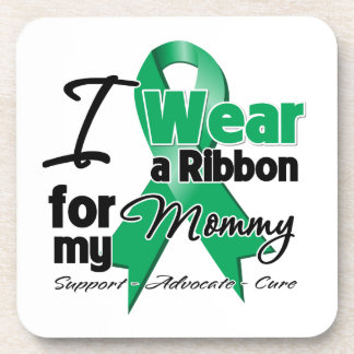 Mommy - Liver Cancer Ribbon.png Drink Coasters