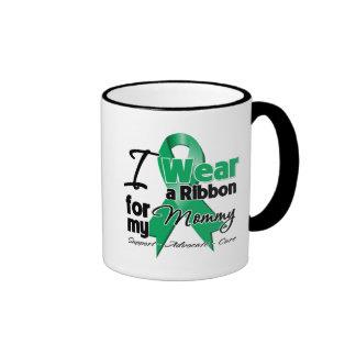 Mommy - Liver Cancer Ribbon.png Ringer Coffee Mug